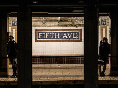 Moment of Life in NYC Subway Station to the Fifth Avenue - Manhattan - New York-Philippe Hugonnard-Photographic Print