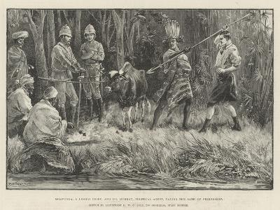 Mompunga, a Lushai Chief, and Mr Murray, Political Agent, Taking the Oath of Friendship--Giclee Print