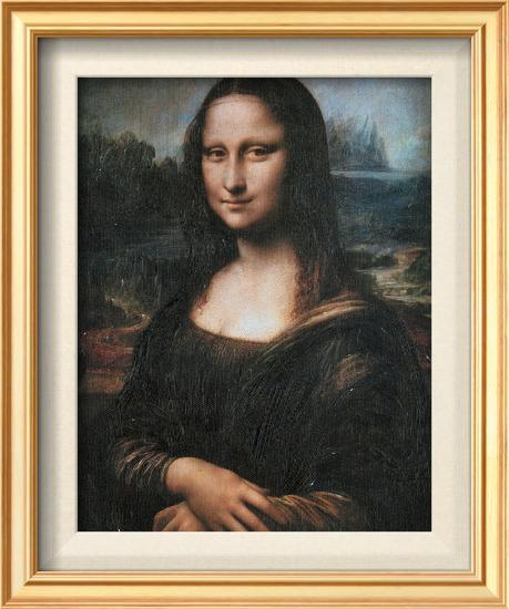 Mona Lisa (La Gioconda), c.1507-Leonardo da Vinci-Framed Textured Art