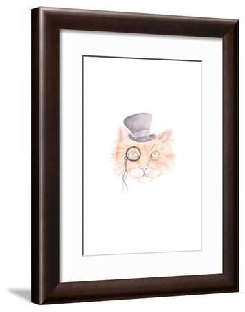 Monacle Meow-Pam Varacek-Framed Art Print