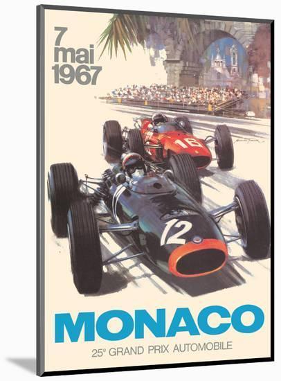 Monaco - 25th Grand Prix Automobile - Formula One F1-Michael Turner-Mounted Art Print