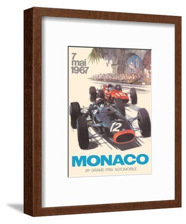 Monaco - 25th Grand Prix Automobile - Formula One F1-Michael Turner-Framed Art Print