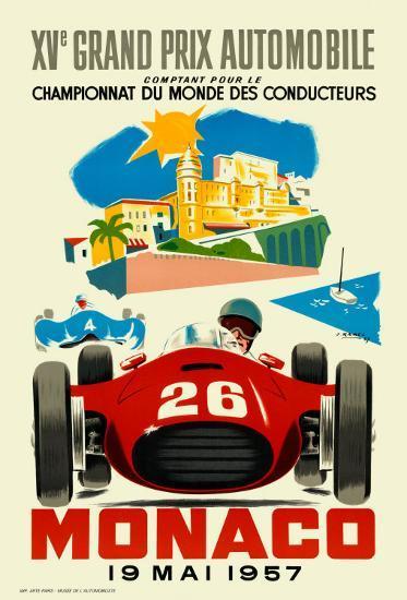 Monaco Grand Prix, 1957--Art Print