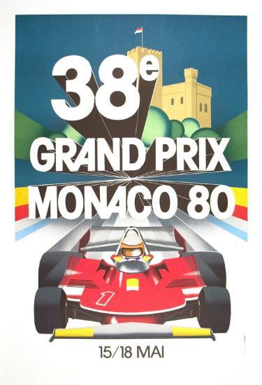 Monaco Grand Prix, 1980--Art Print