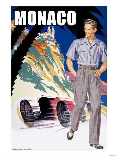 Monaco Men's 50's Fashion II--Art Print