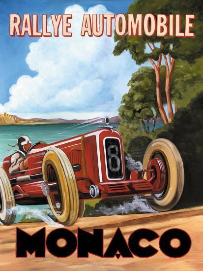 Monaco Rallye-Catherine Jones-Premium Giclee Print