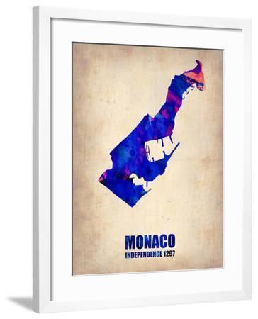 Monaco Watercolor Poster-NaxArt-Framed Art Print