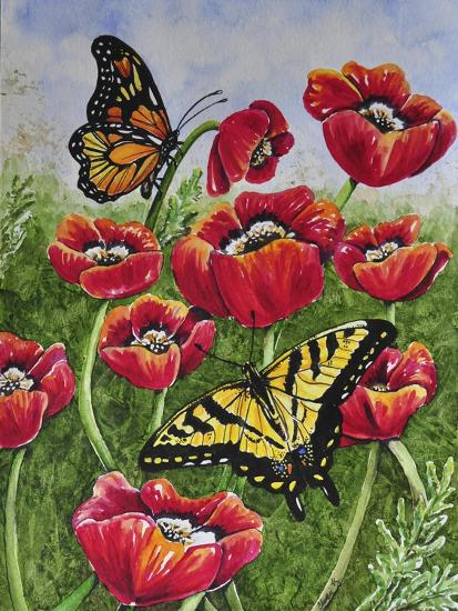 Monarch and Swallowtail-Charlsie Kelly-Giclee Print