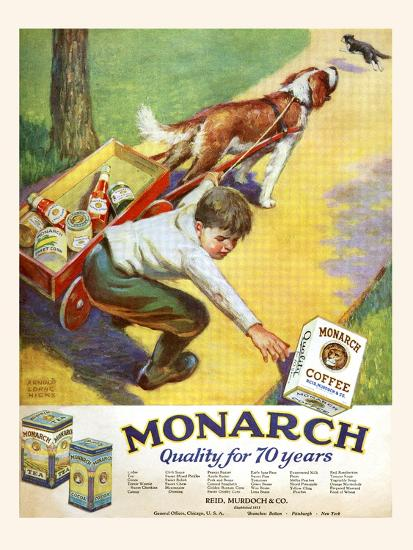Monarch Quality For 70 Years-Arnold Lorne Hicks-Art Print