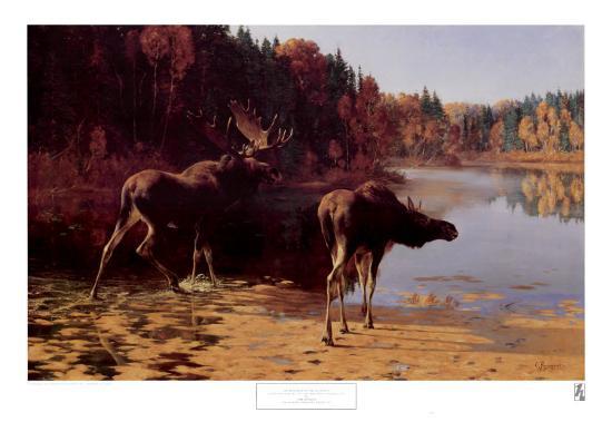 Monarchs of the Wilderness-Carl Rungius-Art Print