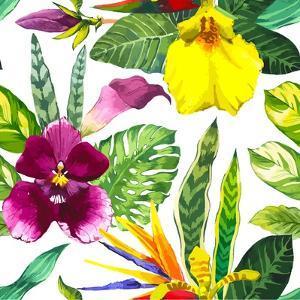 Watercolor Flowers by Monash