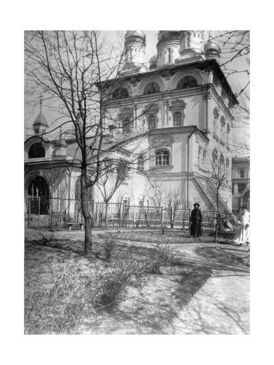 Monastery and Church of the Virgin of the Sign, Moscow, Russia, 1900-Alexander Alexandrovich Nasvetevich-Giclee Print