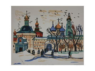 Monastery in Moscow, 1960s-Natalia Aleksandrovna Gippius-Giclee Print