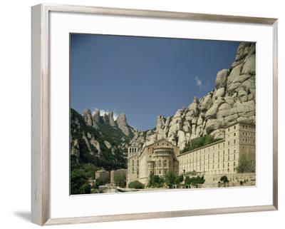 Monastery of Montserrat, Near Barcelona, Catalonia, Spain-Michael Busselle-Framed Photographic Print