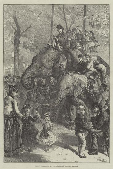 Monday Afternoon at the Zoological Society's Gardens-Charles Joseph Staniland-Giclee Print