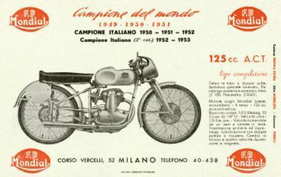 Mondial 125 Motorcycle
