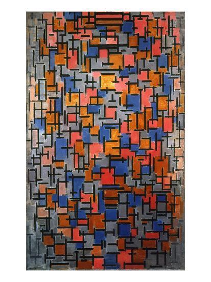 Mondrian: Composition-Piet Mondrian-Giclee Print