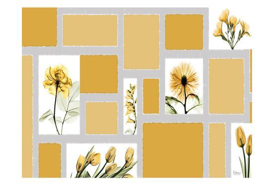 Mondrian Flowers-Albert Koetsier-Art Print