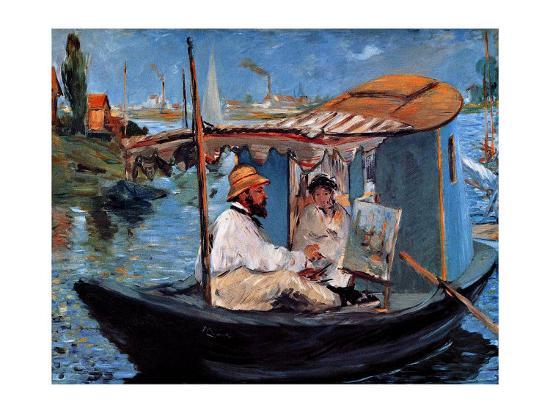 Monet Floating in His Studio-Edouard Manet-Giclee Print