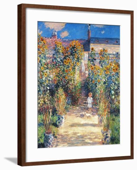 Monet: Garden/Vetheuil-Claude Monet-Framed Giclee Print