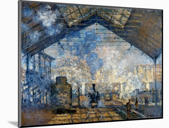 Monet: Gare St-Lazare, 1877-Claude Monet-Mounted Premium Giclee Print