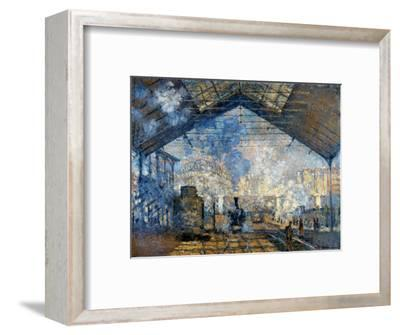 Monet: Gare St-Lazare, 1877-Claude Monet-Framed Premium Giclee Print