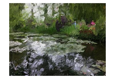 Monet Pond 2-Sarah Butcher-Art Print