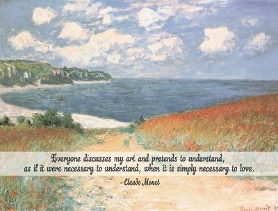 Monet Quote Chemin Dans Les Bles A Pourville-Quote Master-Art Print