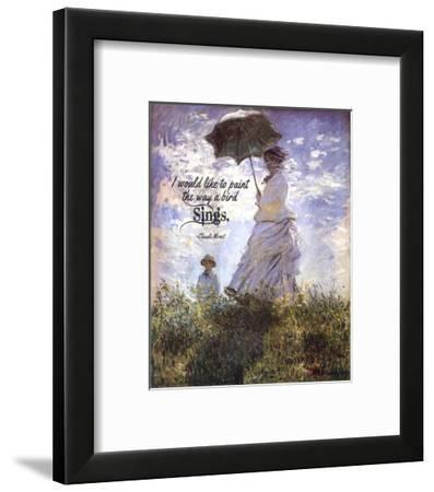 Monet Quote Madame Monet and Her Son-Quote Master-Framed Art Print