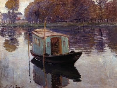 Monet's Studio Boat-Claude Monet-Giclee Print