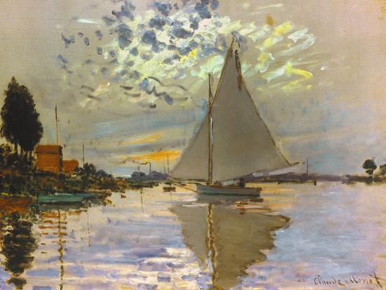 Monet: Sailboat-Claude Monet-Premium Giclee Print