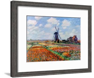 Monet: Tulip Fields, 1886-Claude Monet-Framed Premium Giclee Print