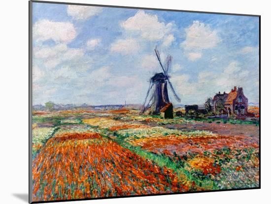 Monet: Tulip Fields, 1886-Claude Monet-Mounted Giclee Print