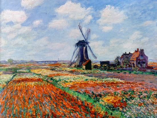 Monet: Tulip Fields, 1886-Claude Monet-Giclee Print