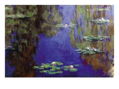 Monet - Water Lilies-Claude Monet-Art Print