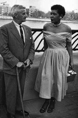 Billie Holliday and Author William Faulkner - 1956 by Moneta Sleet Jr.