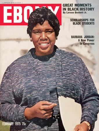 Ebony February 1975 by Moneta Sleet Jr.