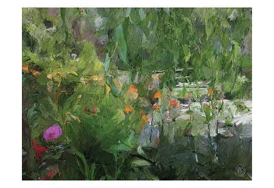 Monets Pond At Giverny-Sarah Butcher-Art Print