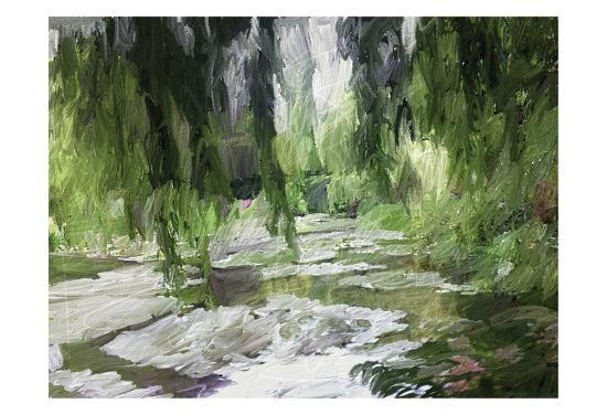 Monets Tranquil Gardens-Sarah Butcher-Art Print