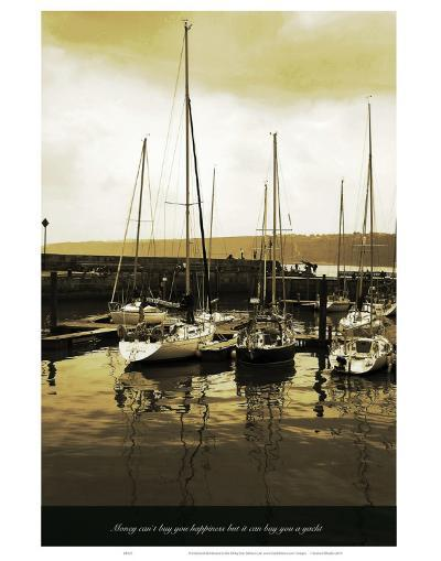 Money Cant But You Happyness But It Can Buy You a Yacht-Graham Rhodes-Art Print
