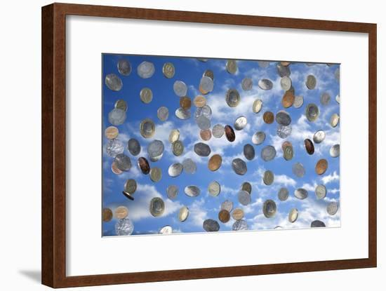 Money Shower-Victor De Schwanberg-Framed Photographic Print