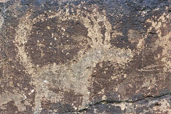 Mongolia, Gobi Desert, Rock Engraving--Giclee Print