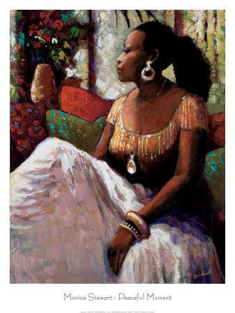 Monica Stewart A Moment in Time  African American Print Poster 8x10