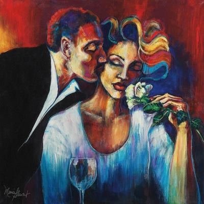 The Red Umbrella Loui Jover Art Print Couple Kiss Romance Romantic Poster 15x24