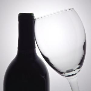 Wine Curves I by Monika Burkhart
