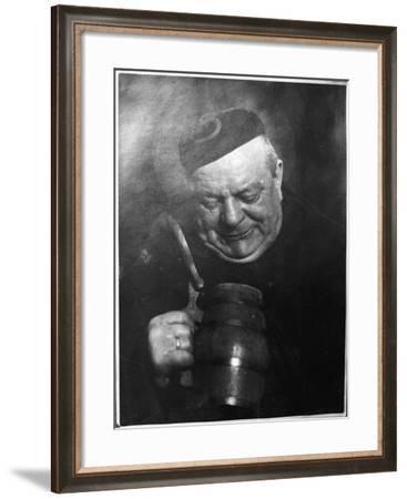 Monk and Mug--Framed Photographic Print