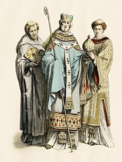 Monk, Archbishop, and Priest of the 11Th Century--Giclee Print