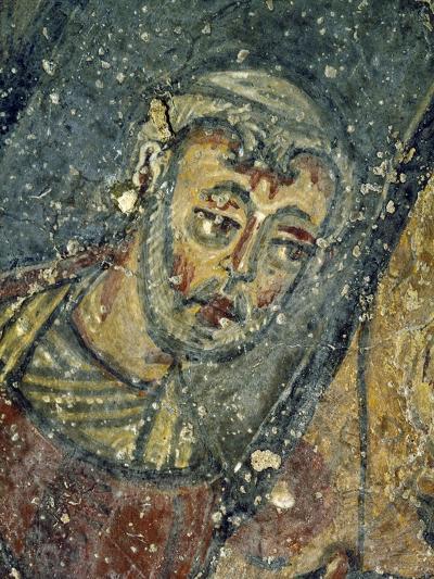 Monk at Feet of Jesus' Cross--Giclee Print