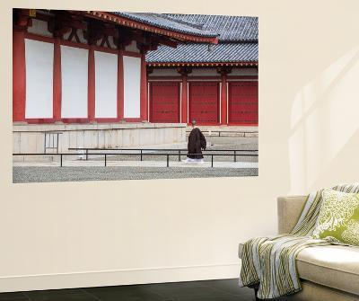 Monk at Shitenno-Ji Temple, Tennoji, Osaka, Kansai, Japan-Ian Trower-Wall Mural