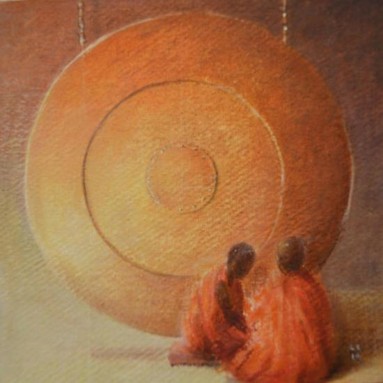 Monk, Gong and Pupil-Lincoln Seligman-Giclee Print